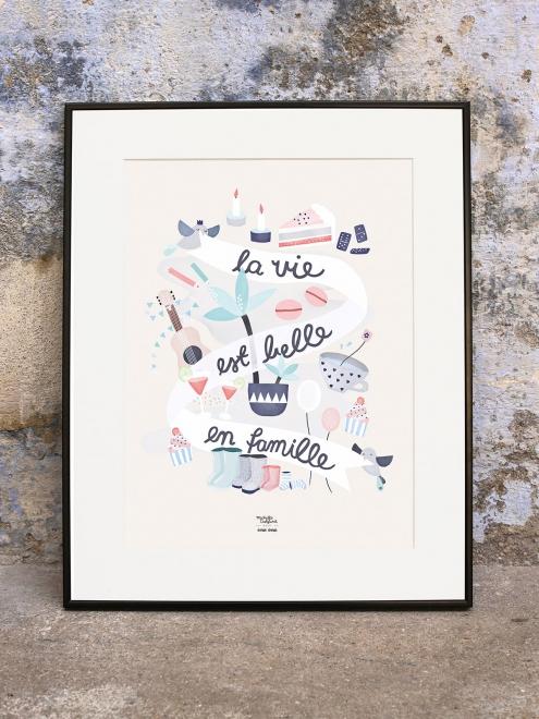 affiche-la-vie-est-belle-en-famille-michelle-carlslund-emoi-emoi_3_